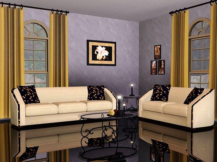 Beige Living Room Gold by Flowarin