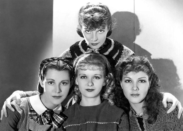"Katharine Hepburn (1907-2003), Frances Dee (1909-2004), Joan Bennett (1910-1990) and Jean Parker (1915-2005) in ""Little Women"", 1933"