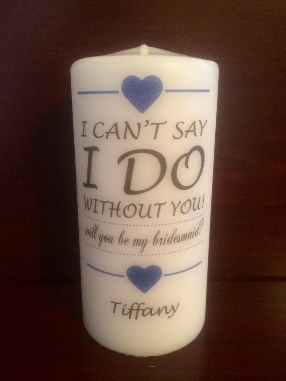 Personalized 6 BRIDESMAID WEDDING  Pillar by YoursCherished