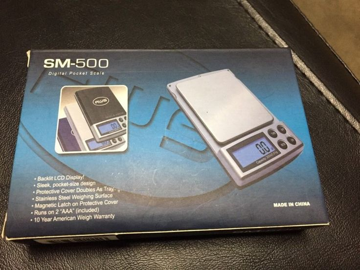 Digital Pocket Gram Scale AWS SM-500 Black 500g x 0.1g Troy Ounce Ozt Dwt #AmericanWeigh