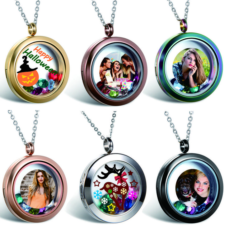 Personalized Photo Picture Free Custom Engraving Charm Locket Pendant Necklace #Unbranded #Pendant