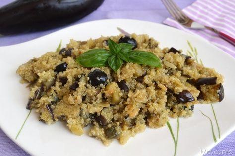 Insalata di quinoa e melanzane, scopri la ricetta: http://www.misya.info/2014/06/25/insalata-di-quinoa-e-melanzane.htm