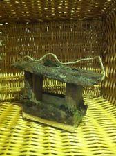 Casetta mangiatoia in legno per uccellini art 3284 artigianale