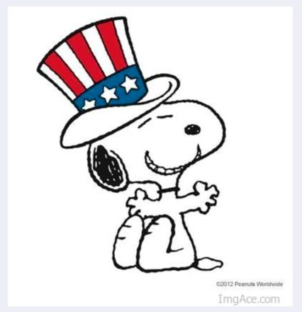 4th of july dog clipart