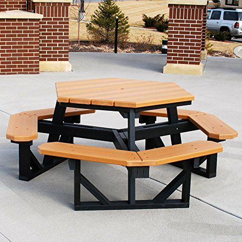 Jayhawk Plastics Hex Recycled Plastic Commercial Picnic Table For Sale https://patiofurnituresetsusa.info/jayhawk-plastics-hex-recycled-plastic-commercial-picnic-table-for-sale/