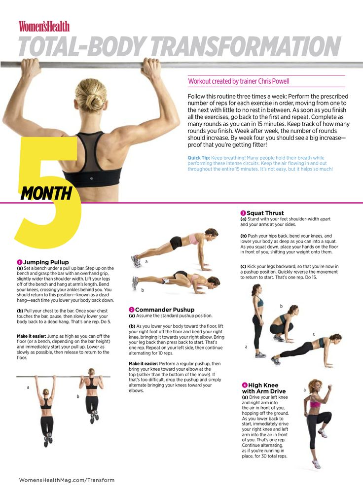body weight workouts to lose weight