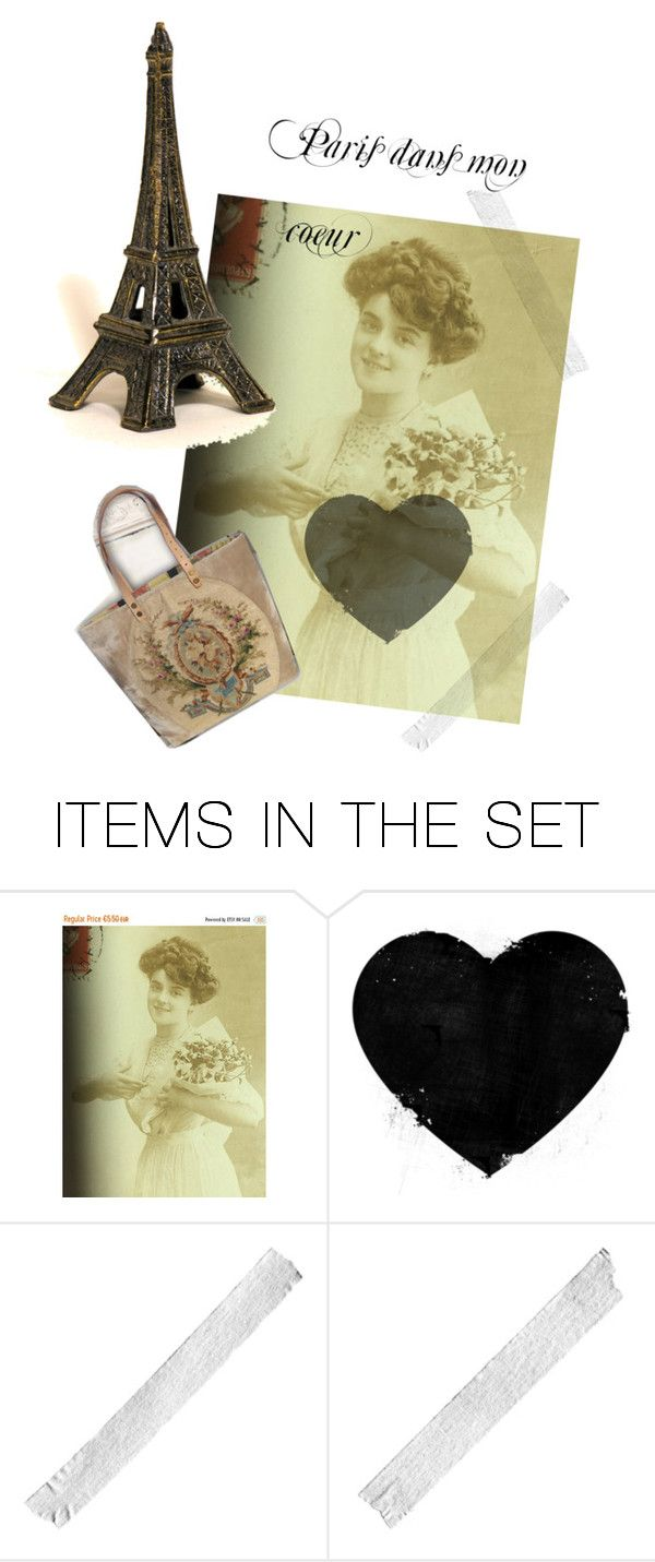 """Paris dans mon coeur"" by ruefedor ❤ liked on Polyvore featuring art"