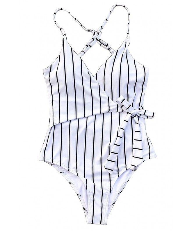 Stripe One Piece Swimsuit Swimwear For Women Bathing Suit – Stripe – CP18C9YAN08