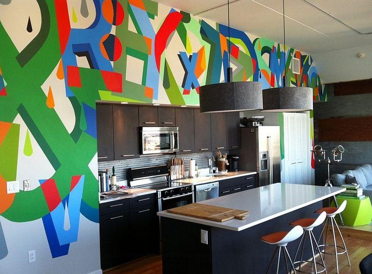 6 ideias de murais de graffiti para fazer em casa