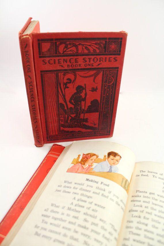 "1930s ""Science Stories"" vintage science textbooks - schoolbook, school book, Scott Foresman, Curriculum Foundation Series, fun teacher gift!"