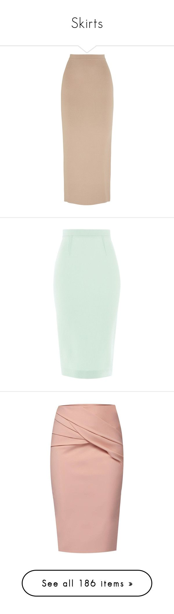 """""""Skirts"""" by pembridge ❤ liked on Polyvore featuring skirts, bottoms, maxi skirt, saias, beige, pink skirt, beige maxi skirt, pink bodycon skirt, long pink skirt and stretch maxi skirt"""