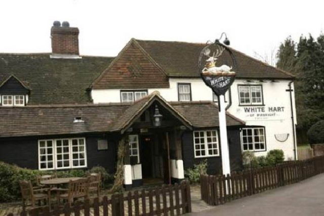 The White Hart, Pirbright,  Surrey, We went here for many a meal when it was the moor hen.