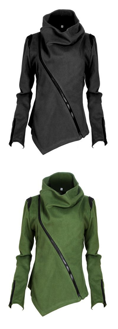 It doesn't get much better than a relaxing day.Take this casual outerwear featuring irregular cut and casual style without doubt at WEALFEEL.COM !