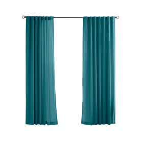 solaris 108in l teal canvas solid outdoor curtain panel loweu0027s
