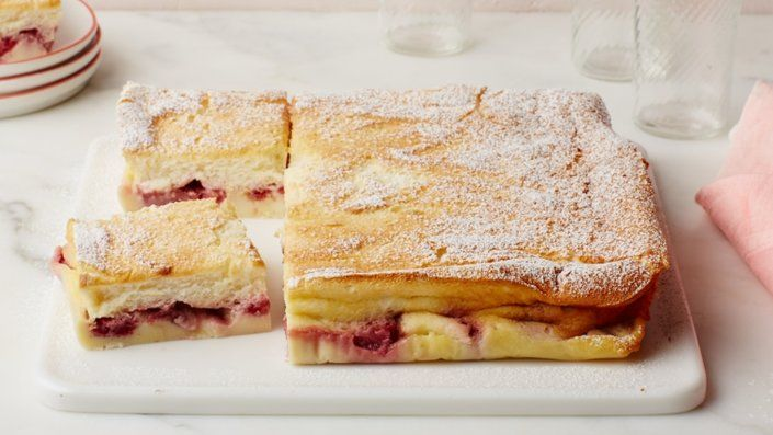 The Best Berry 3-Layer Magic Cake | Recipes | Food Network UK