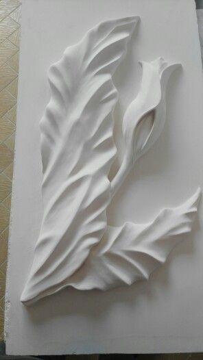 Plaster decor_Drywall_Tulip                   Alçı kabartma el sanatı   -Lale-