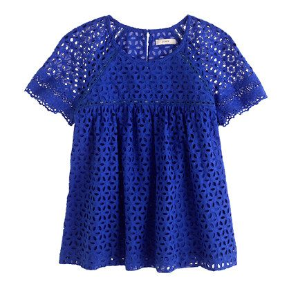 Eyelet top - would be cute with white jeans for summer!