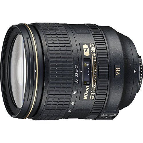 Nikon 24-120mm f/4G ED VR AF-S NIKKOR Lens for Nikon Digital SLR (Certified Refurbished) - Compact and versatile 5X standard zoom lens with f/4 maximum aperturePerfect for landscapes, portraits, weddings and distant subjects offering a constant maximum aperture to maintain exposure settings throughout the entirezoom range.Extended range on Nikon DX-format D-SLR camerasAngle of view is ...