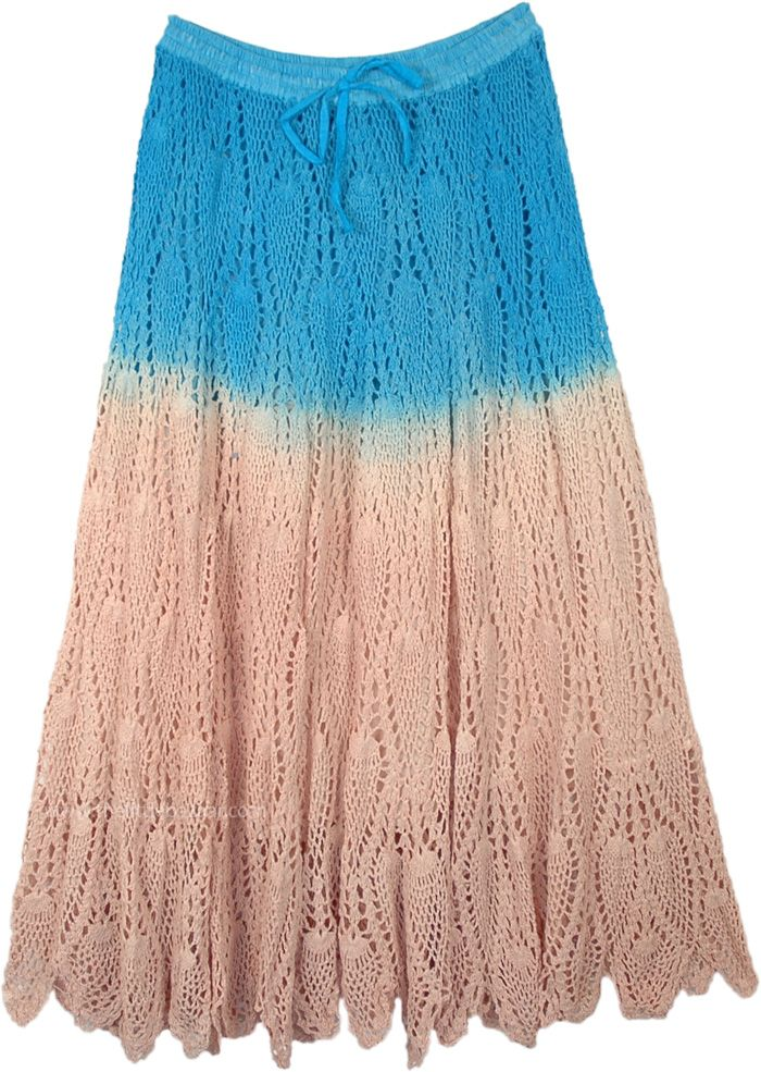 knitted cotton skirt Handmade skirt Different colors available summer lace skirt