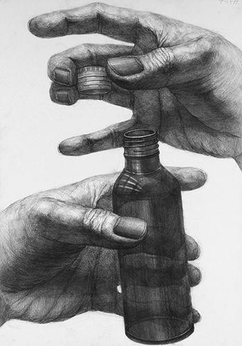 2011年度 多摩美術大学 プロダクトデザイン専攻 合格者再現作品:鉛筆デッサン
