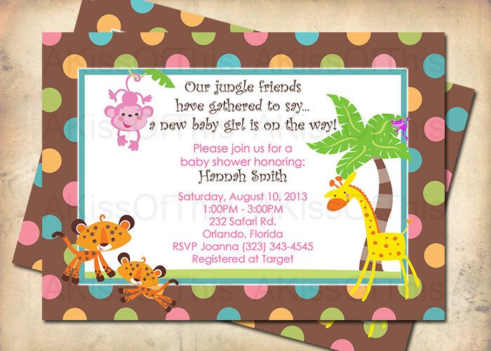 15 best Shower invites images on Pinterest Animal baby showers