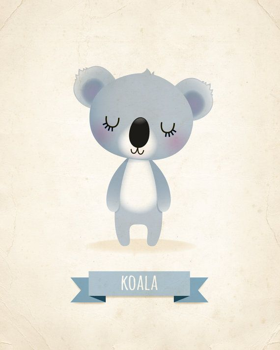 Nursery art print Koala print nursery art kids by IreneGoughPrints