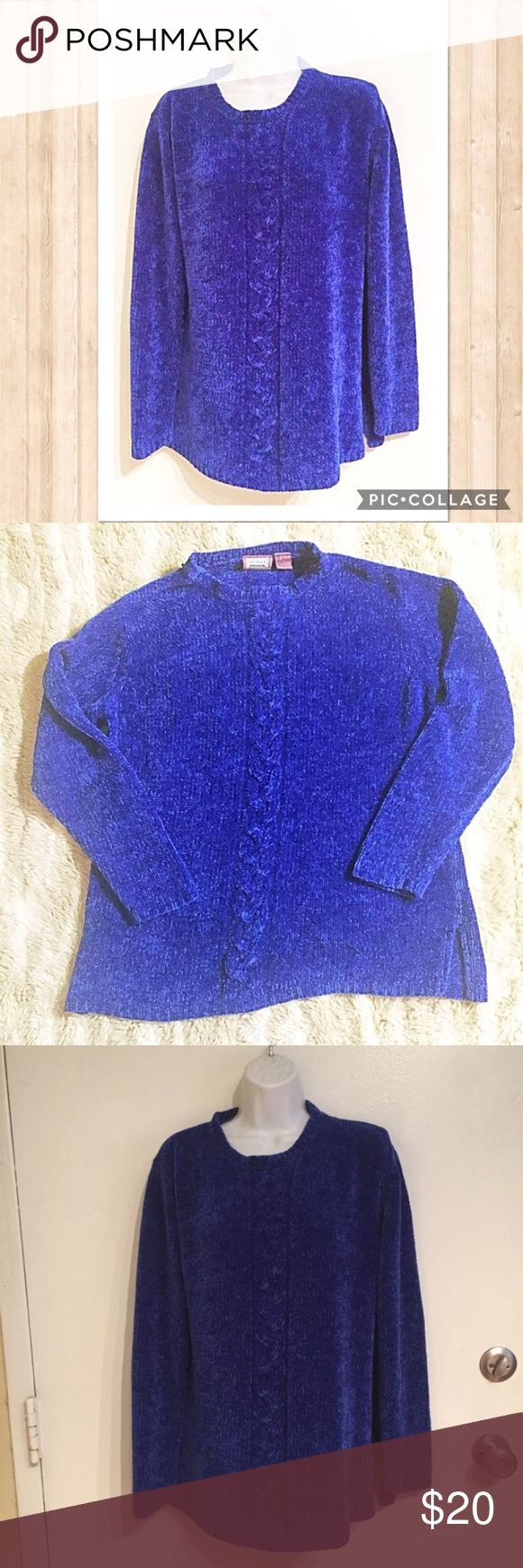 ☘️5for$25🍀 Royal Blue Blush Oversized Sweater Soft and plushy royal blue sweater. Size medium. #soft #plush #blue #royalblue #medium #oversized #sweater #punkydoodle  No modeling Smoke free home  I do discount bundles Premier Sweaters