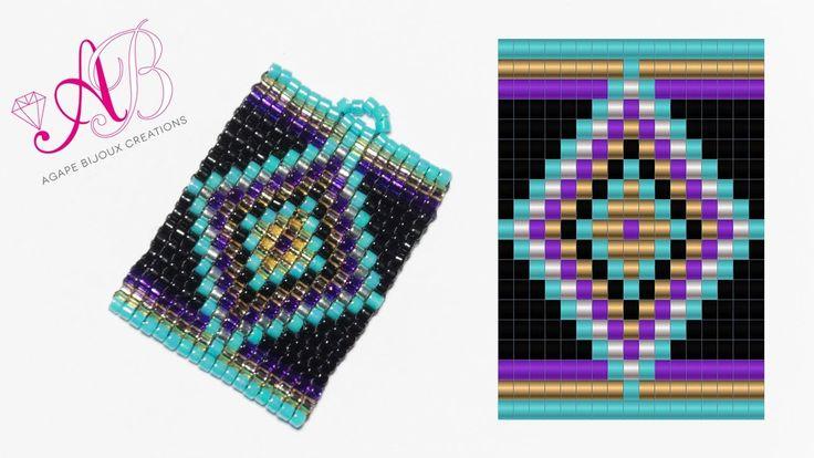DIY Tutorial: Ciondolo Ethnic - Square Stitch in Italiano