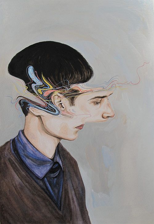 conceptual surrealist macabre emotive disturbing art painting Paintings by Artist Henrietta Harris Published by Maan Ali