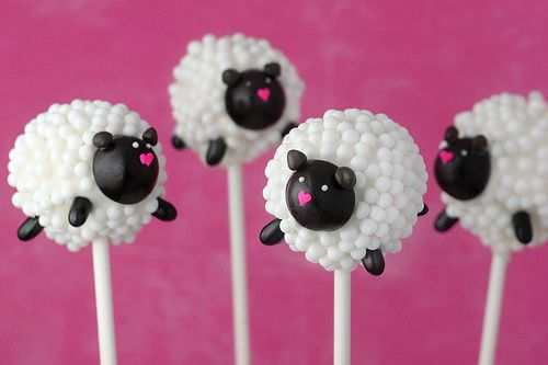 cake pop (sheep)