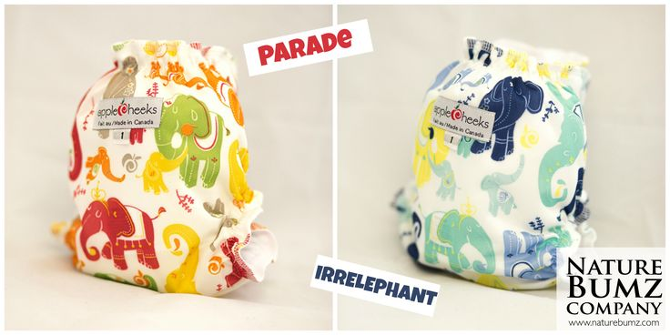 Welcome AppleCheeks Cloth Diapers New Prints!  Irrelephant and Parade!  Available here: http://www.naturebumz.com/applecheeks-envelope-diaper-covers.html