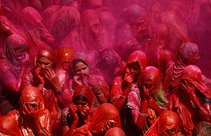 Holi (Buddhist festival of color)!  Now this is one tradition the Christians definitely missed out on.