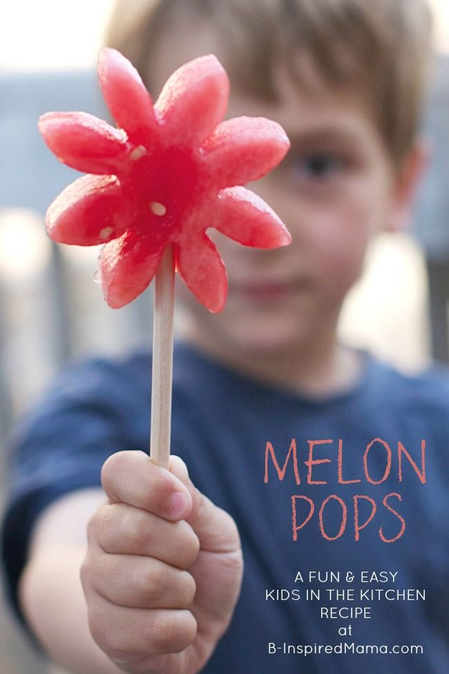 KIDS IN THE KITCHEN - WATERMELON POPS  - Repinned by Totetude.com