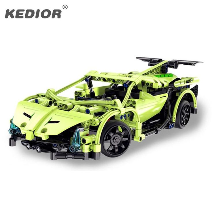 RC Racing Car Model Building Block 15-20KM/H HighSpeed Radio Controlled Cars Machine 3D Construction Brick Toys Car With Battery #radiocontrolledcars
