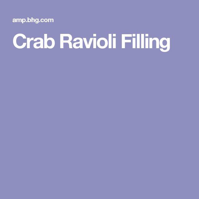 Crab Ravioli Filling