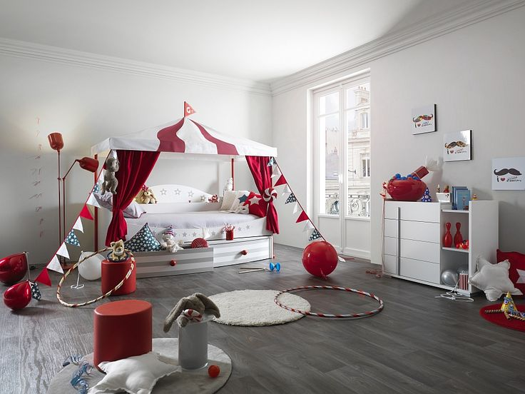 We've all seen the videos of rollercoasters being built in gardens, but how about bringing that theme into your home? Build an ornamental Ferris wheel for their teddies, include lots of bright lights, and circus themed colours. This is a bright, fun, room that all children are guaranteed to absolutely love!