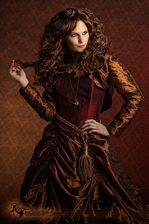 Formal Victorian Steampunk.  Model: Natalie Jenkins, Fashion by Kinki Kitty Designs, Hair by Dreadnaughty, Accessories by Lily's Steampunk Emporium, Makeup by Kueenofcolor MUA - #steamPUNK - ☮k☮