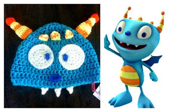 Henry Hugglemonster  brother Cobby crochet hat/beanie by Karohook, $13.00