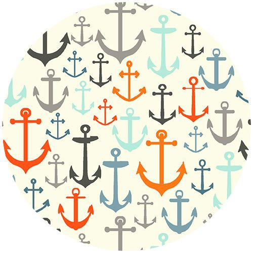 Color scheme-Henley Studio, Nautical, Anchors Cream