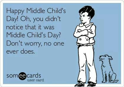Yep that's me, middle child.