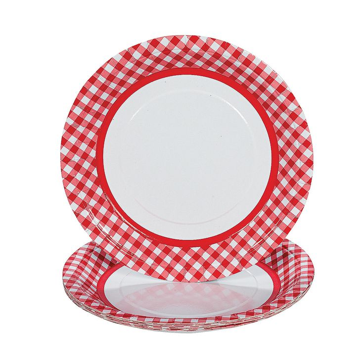 Red Gingham Paper Dinner Plates  sc 1 st  Pinterest & 295 best Using Paper Plates! images on Pinterest | Dinner plates ...