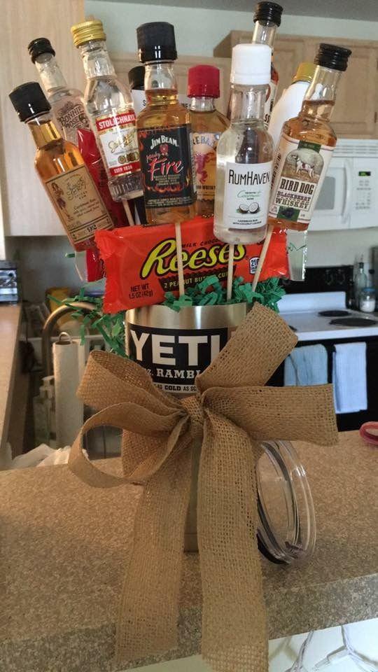 alcohol bouquet man boyfriend gift