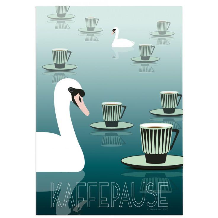 Kaffepause 1 by Nynne Adelborg plakat A3