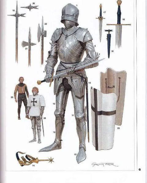 15th century Gothic armor.