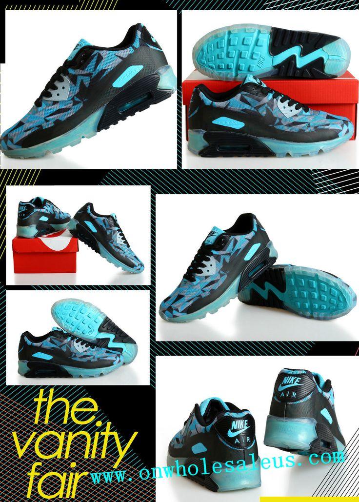 2014 cheap nike air max 90 men blue shoes for sale $39 size us7-us11