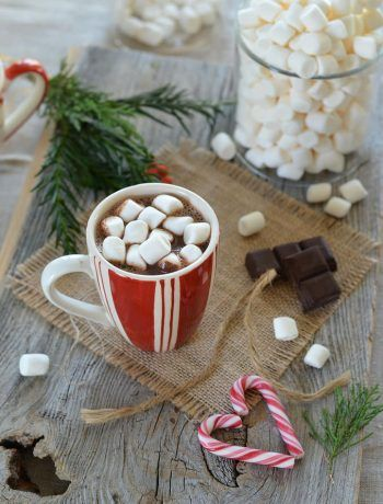 Chocolat chaud à l'orange et aux marshmallows