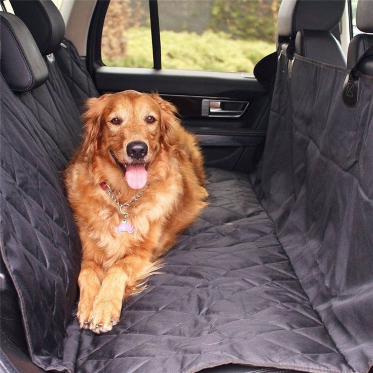 Pet Car Back Seat Covers Non-slip Folding Rear Bench Machine Washable Waterproof Seat Cushion Pet Dog Cat Car Travel Supplies
