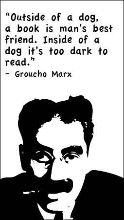 Image result for groucho marx reading quotge