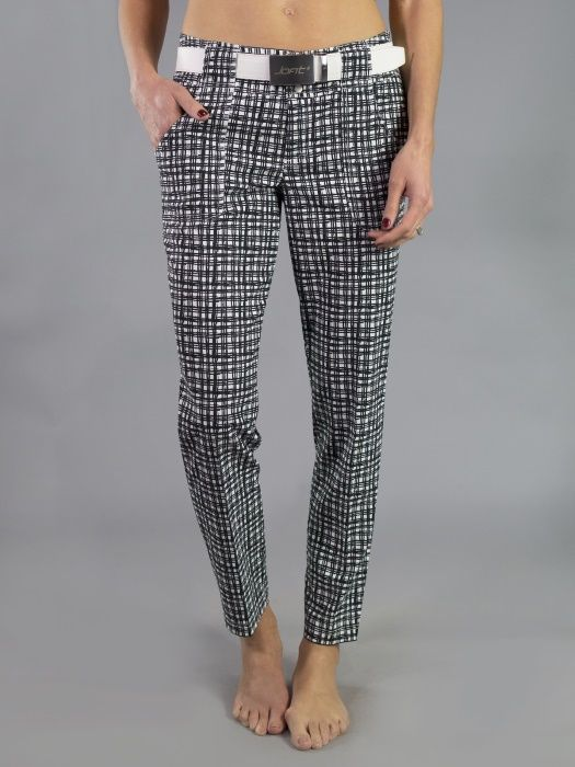 "Check out what #lorisgolfshoppe has for your days on and off the golf course: Barossa (Wicker Print) JoFit Ladies 28"" Inseam Belted Cropped Golf Pants"