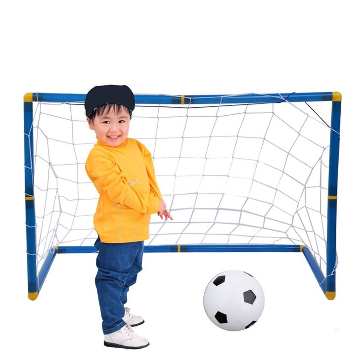 Portable 45cm Football Goal Post Utility Net Soccer Goal Post + Net + Ball + Pump Safe Indoor Outdoor Sports #Affiliate